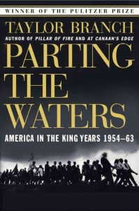 the book cover of taylor branch's parting the waters